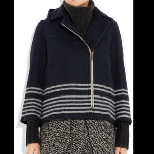 Band of Outsiders Boy. Navy Wool Hooded Parka